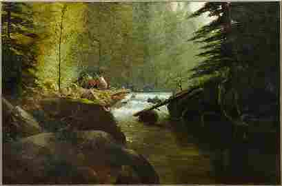 """Ransome G. Holdredge (1836-1899), """"Landscape with"""