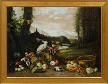 American School Still Life with Cockatoo early 20th