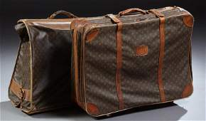 """Two Vintage Louis Vuitton Suitecases, with the """"LV"""""""