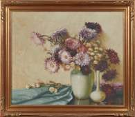 """Aubrey Dale Greer (1904-1998), """"Floral Still Life with"""