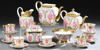Nineteen Piece French Porcelain Tea and Coffee Service,