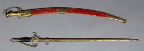 Two Steel Swords early 20th c consisting of a