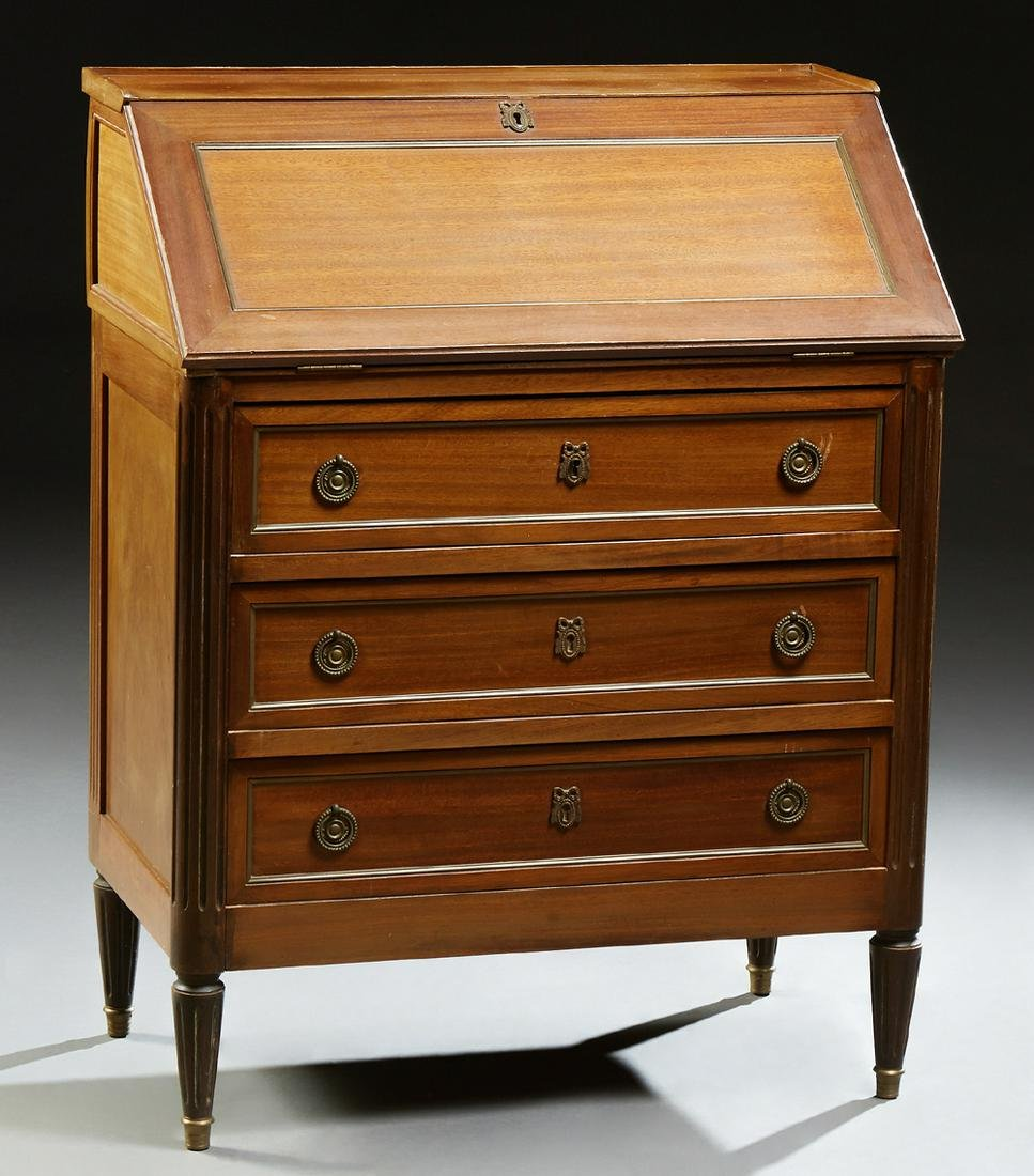 French Louis XVI Style Slant Front Desk, early 20th c.,