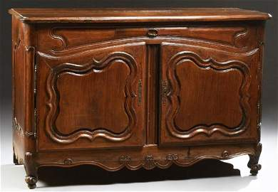 French Provincial Louis XIV Style Carved Walnut