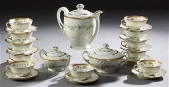 Twenty-Six Piece Set of French Limoges Porcelain Coffee