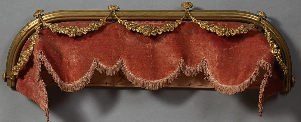 French Brass Louis XV Style Bed Canopy, early 20th c.,