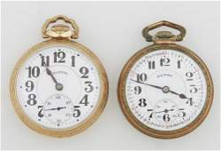 Two Illinois Bunn Special Gold Filled Pocket Watches,