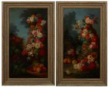 "Dutch School, ""Elaborate Floral and Fruit Still Life,"""