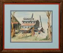 "Julie, ""Abandoned Sugar Cane Mill, New Iberia,"" 1964,"