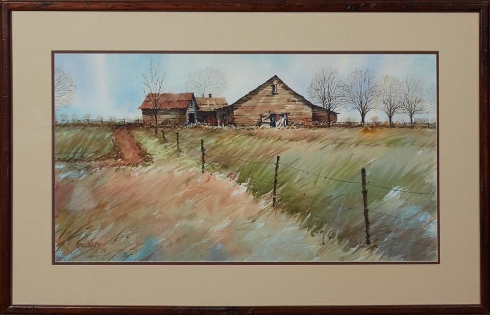 """Peter Briant (New Orleans), """"Farm in the Fields,"""" 1979,"""