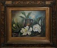 "Ora Newton Gill, ""Magnolia Still Life,"" early 20th c.,"