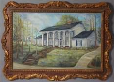 """M. Nasca, """"Jackson Mississippi Home,"""" 1970, oil on"""