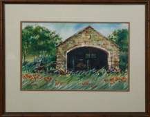 """Peter Briant (New Orleans), """"Stone Garage in Western"""