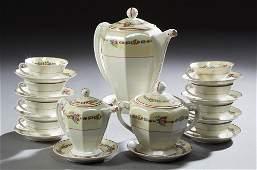 Twenty-Six Piece French Limoges Porcelain Coffee