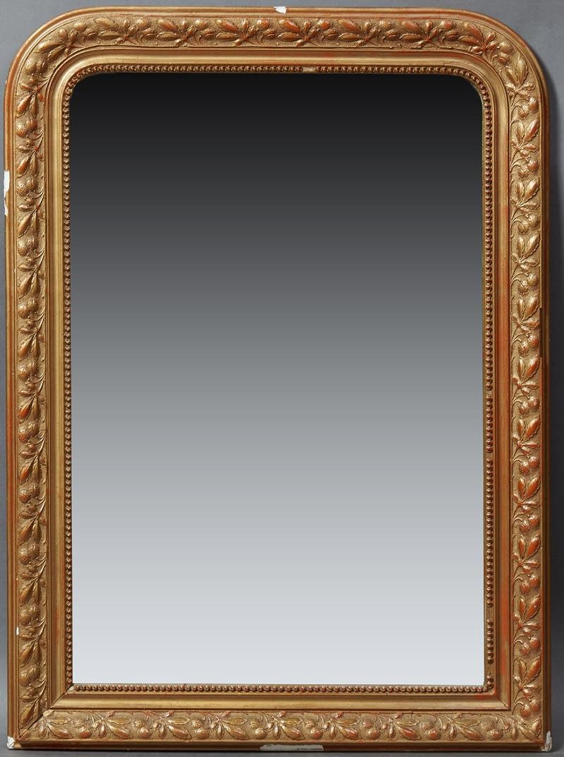 French Louis Philippe Style Gilt and Gesso Overmantle