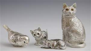 Group of Four Christofle Silverplated Animals, 20th c.,