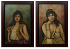 Continental School Dark Haired Beauties 20th c