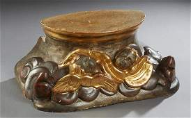 Italian Carved and Gilt Wood Architectural Element