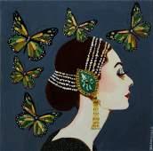 """Sarah Ashley Longshore (1975-, New Orleans), """"Audrey"""