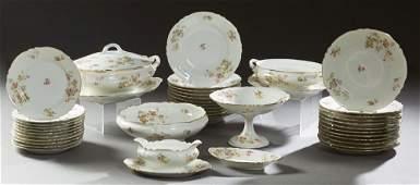 Forty-Nine Piece Set of Limoges Porcelain Dinnerware,