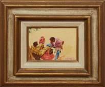 "Jack Smith (Louisiana), ""Shoe Shine Man,"" 1973, oil on"