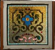 American Leaded Stained Glass Window, early 20th c.,