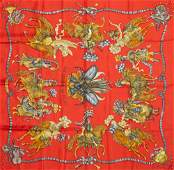 Hermes 'Les Fetes Du Roi Soleil' Silk Scarf, by Michel