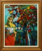 Gino Martini 1935 Italian Pensive Woman Beside a