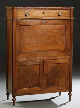 French Louis XVI Style Carved Mahogany Secretary