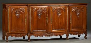 French Provincial Louis XV Style Carved Walnut