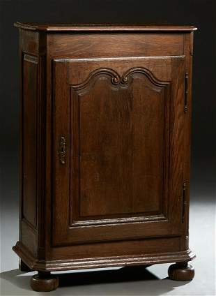 French Provincial Carved Oak Louis XIV Style