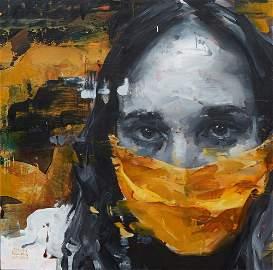 """Aron Belka (1974-, Utah/New Orleans), """"Masked,"""" 2020,"""