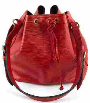 Louis Vuitton Noe Red PM Epi Leather Shoulder Bag, with