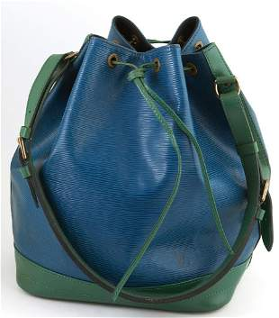 Louis Vuitton Noe Bicolor Blue and Green GM Epi Leather