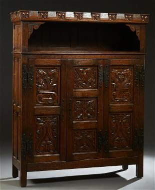French Provincial Renaissance Style Carved Oak
