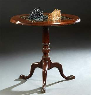 French Louis Philippe Carved Walnut Pedestal Games