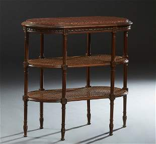 French Louis XVI Style Carved Walnut Desserte, early