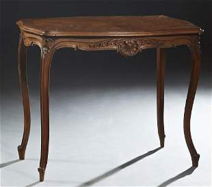 Louis XV Style Crotched Mahogany Center Table, early