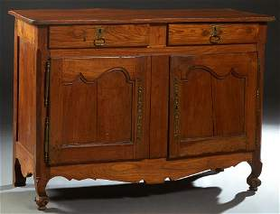 French Louis Philippe Carved Elm Sideboard, 19th c.,