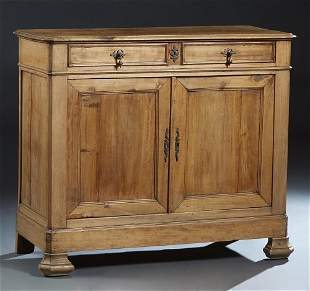 French Provincial Louis Philippe Carved Poplar