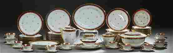 French Eighty-Six Piece Set of Limoges Porcelain