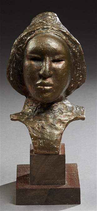 """Emerson Bell (1931-2006, Baton Rouge), """"Bust of a"""