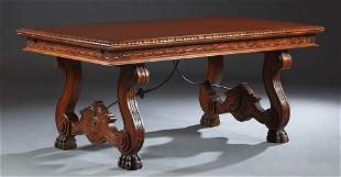 French Renaissance Style Drawleaf Dining Table, 20th