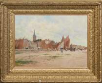 """Luigi Loir (1845-1916, French), """"On the Beach in a"""