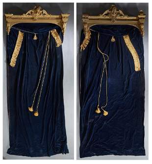 Pair of American Victorian Gilt Wood and Gesso Figural