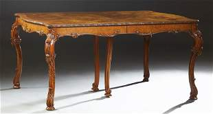American English Syle Carved Burled Walnut Dining