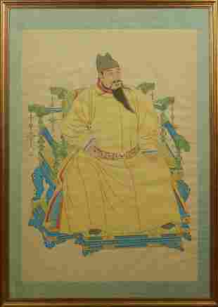 Chinese Ancestor Portrait, late 19th c., oil on silk