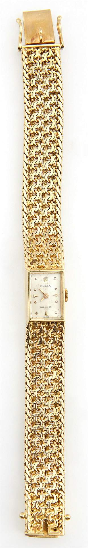 Vintage 18K Yellow Gold Lady's Precision Rolex Manual