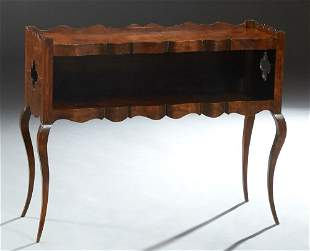 Unusual Louis XV Style Walnut Console Table, 20th c.,