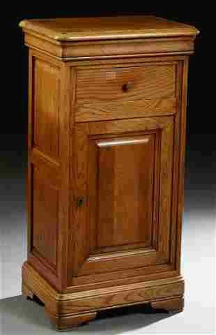 French Louis Philippe Carved Oak Confiturier, 19th c.,